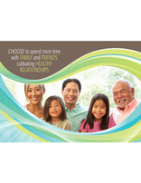 Choose Full Life - Spend Time with Family and Friends (Postcard)(pkg of 100)