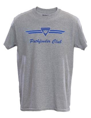 Pathfinder T-shirt - Gray with Blue Logo
