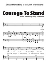 Courage to Stand Sheet Music