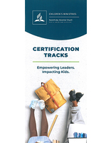Children's Ministries Certification Tracks Brochure