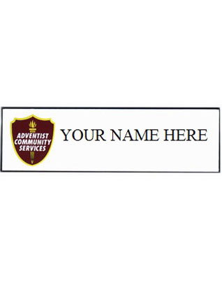 Adventist Community Service Name Badge (Engraved)