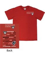 Pathfinder T-Shirt - Red with 2 color logo