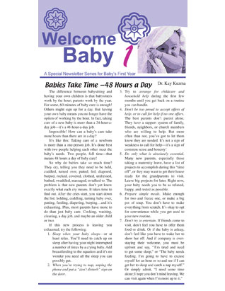 Welcome Baby -- Newsletters for Ten Families