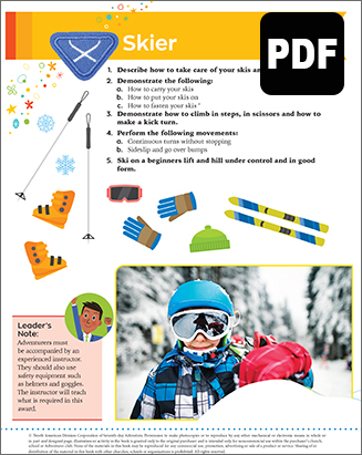 Helping Hand Skier Award - Download
