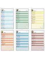 Adventurer Record Charts set of 6 - French