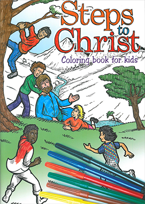 Steps to Christ Coloring Book for Kids