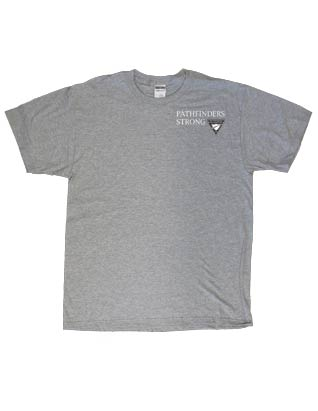 Pathfinder T-Shirt - Gray with 2-color logo