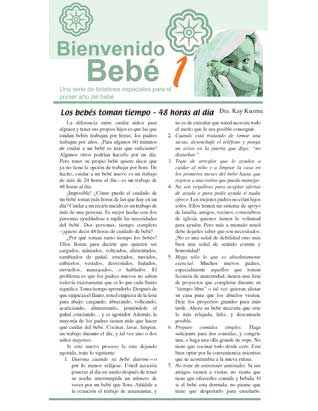 Welcome Baby -- Newsletters for Ten Families (Spanish)