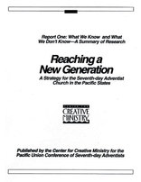 Reaching a New Generation Report #1