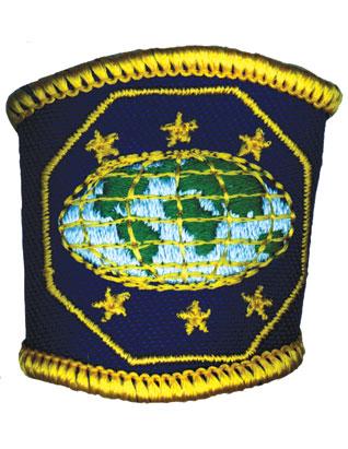 Sujeta pañuelo bordado - Guías Mayores