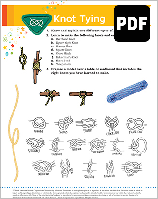Helping Hand Knot Tying Award - DL