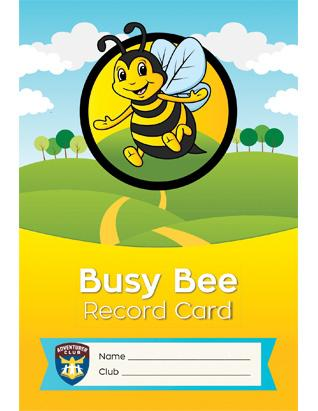 Adventurer Record Card, Busy Bee