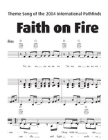 Faith on Fire Sheet Music Download