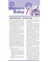 Welcome Baby -- Newsletters for Individual Family