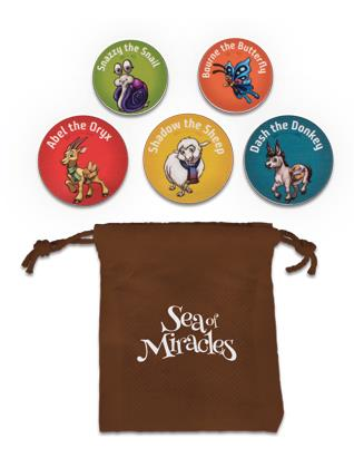 Sea of Miracles VBX Bible Pal Tokens with Bag (Pkg of 10 Sets)