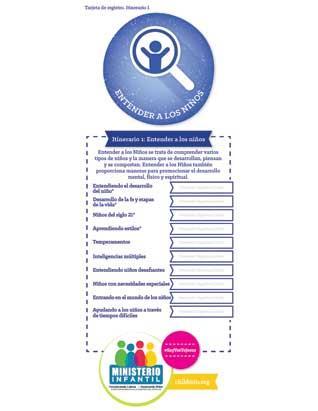 Entender a los niños - 1 Tarjeta de registro