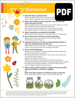 Sunbeam Gardener Award – PDF Download