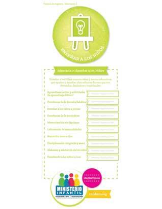 Teaching Children - Certification Check-off Card (Spanish)