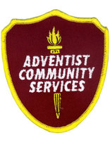 Adventist Community Service Shield Patch