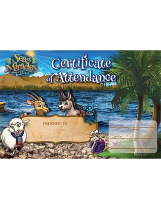 Sea of Miracles VBX Certificate of Attendance (Pkg of 10)