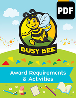 Busy Bee Award Requirements & Activities - PDF Download