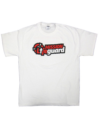 Camiseta blanca de Mission Life Guard