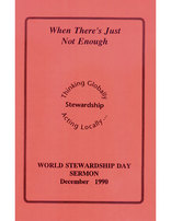 When There's Just Not Enough--Stewardship Sermon