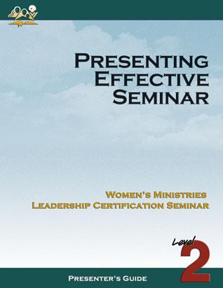 Presenting an Effective Seminar