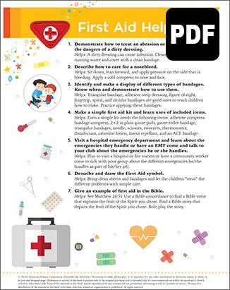 Builder First Aid Helper Award - PDF