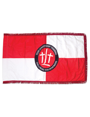 Bandera de TLT para uso interior - 3' x 5'