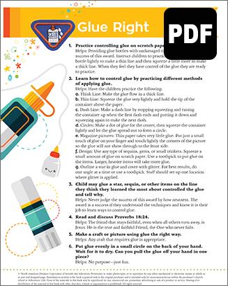 Sunbeam Glue Right Award – PDF Download