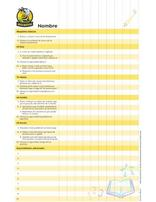 Busy Bee Record Chart (Spanish)