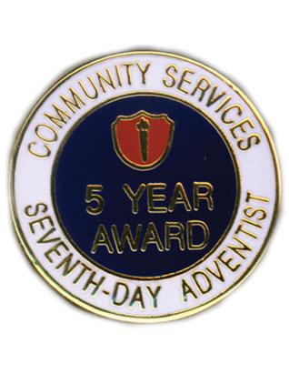 ACS 5 Year Service Award Pin