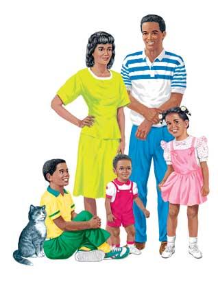 African American Family Felt Set