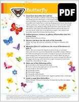 Busy Bee Butterfly Award - PDF Download