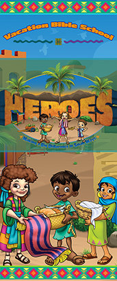 Heroes VBS Tripod Banner