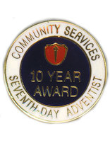 ACS 10 Year Service Award Pin