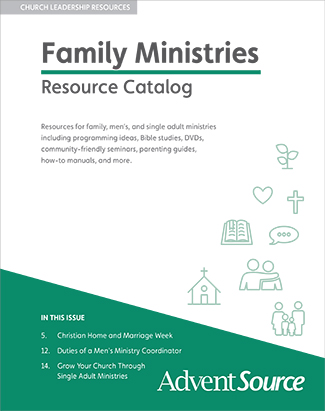 Family / Men's / Single Adult Ministries Catalog