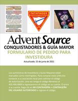 Pathfinder Investiture Order Form - Spanish