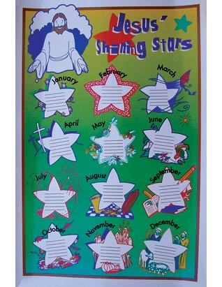 Jesus Shining Star B-day Poster--(K,P)