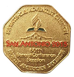 Pin de la DNA del 60 Congreso de la Asociación General (San Antonio 2015)