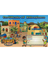 Heroes VBS Certificate of Attendance (Pack of 10)