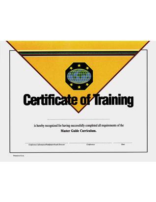 Certificado de logro -Guía Mayor