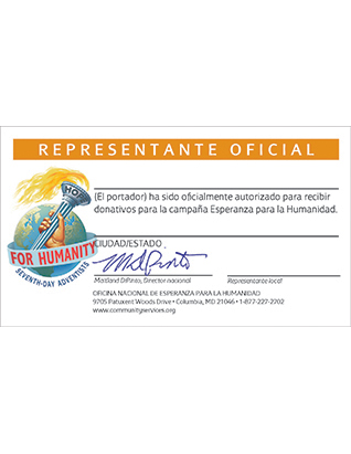 Hope for Humanity ID Cards (Spanish)