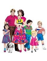 Anglo-American Family Felt Set