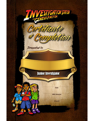 The Genesis Factor VBS: Certificate of Attendance (Package of 10)