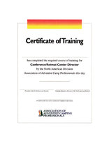 AACP Certificate --Asst. Food Service Director