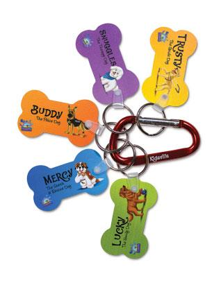 Kidsville VBX Bible Pals & Carabiners (pkg of 10 sets)