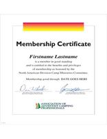 AACP Certificate--Membership
