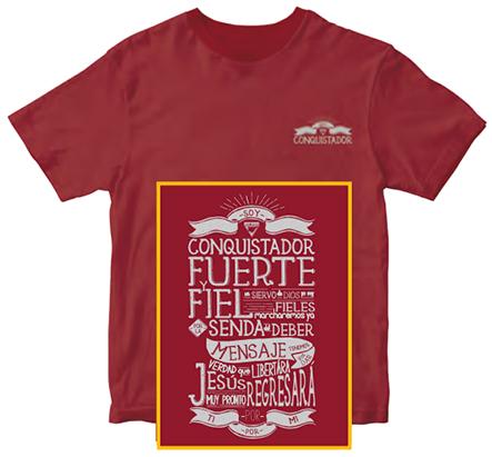 Camiseta Conquistador fuerte y fiel - en español